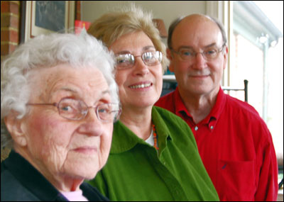Our mother Christine, myself, and brother Jim.